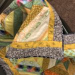 Close up of quilt edging