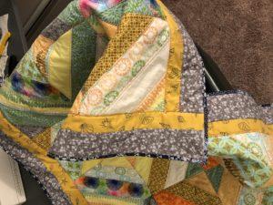 Close up of quilt edging