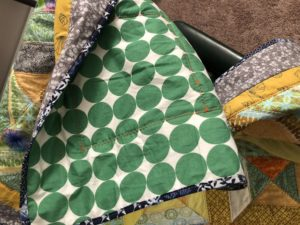 back of quilt and binding
