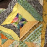close up of quilt blocks