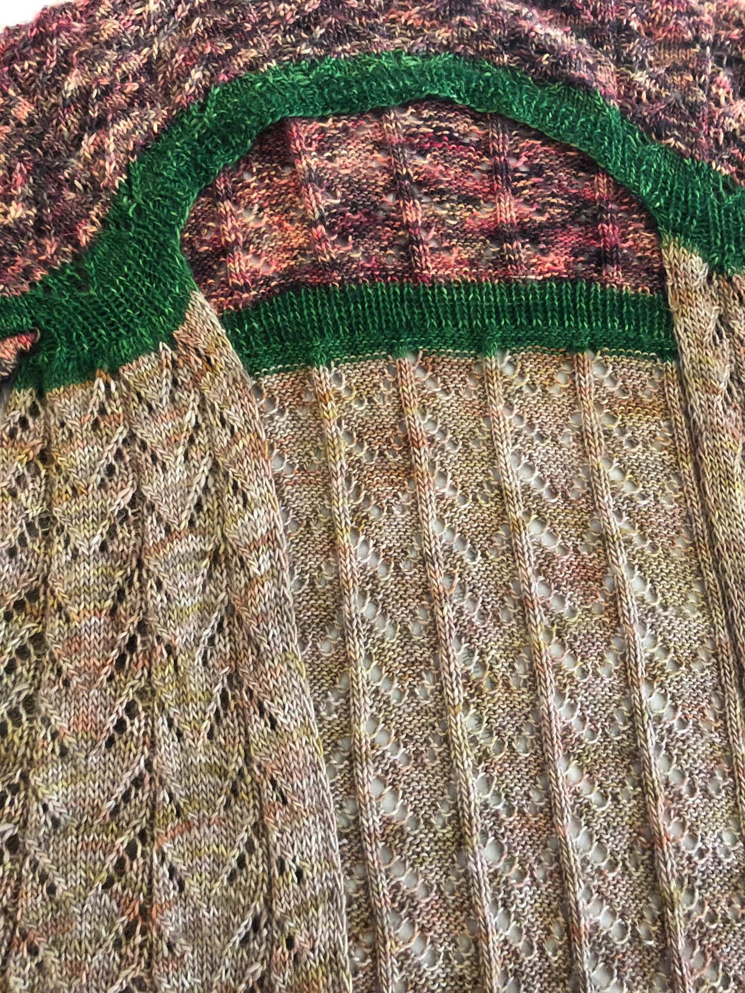 closeup of sweater colors
